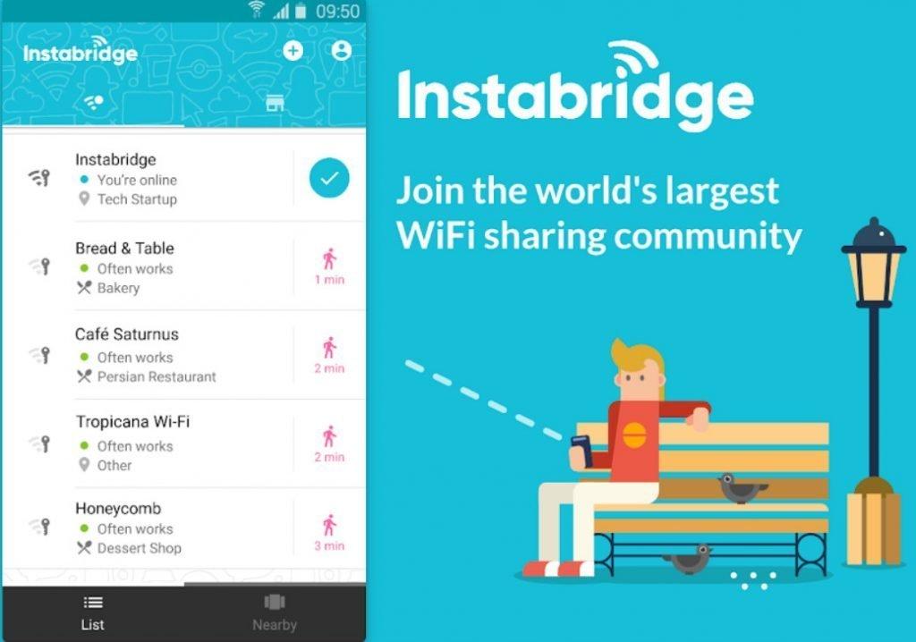instabridge wifi android app