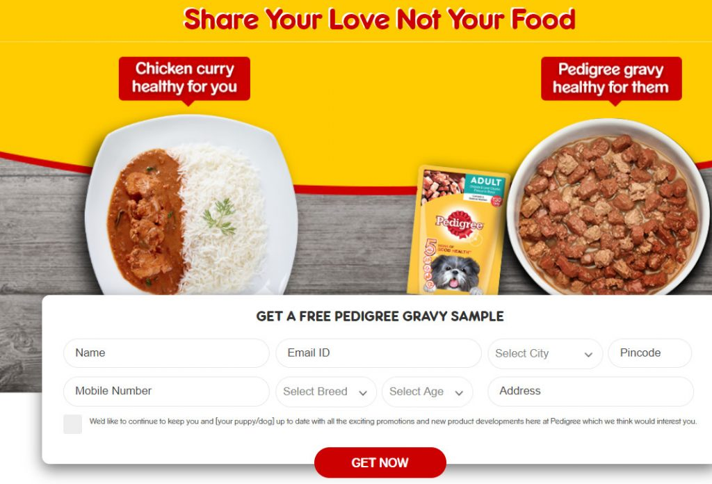 free pedigree gravy sample offer