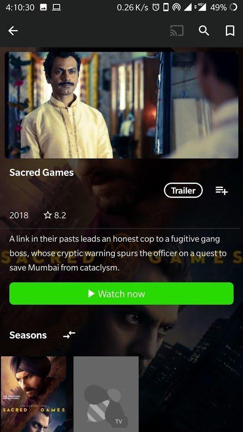 free sacred games 2 netflix apk