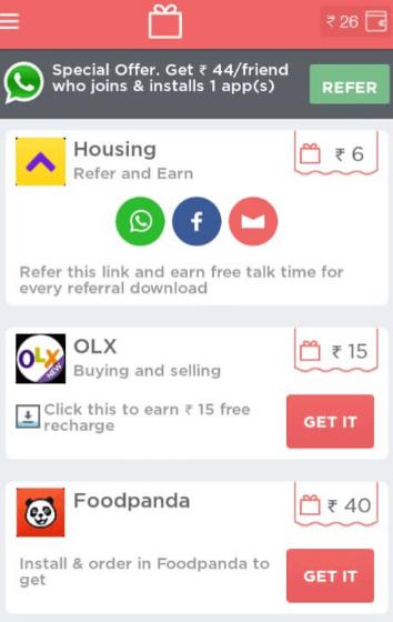 ladooo app free recharge