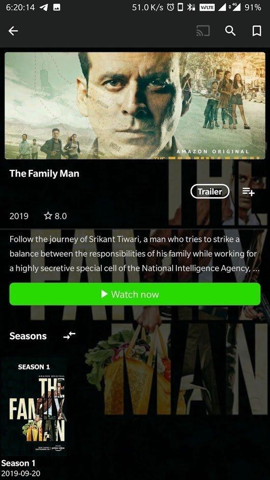amazon prime video free mod the family man
