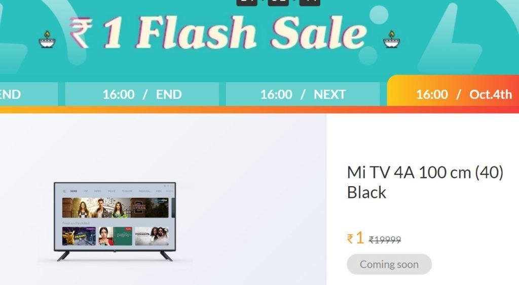 mi flash sale diwali mi tv