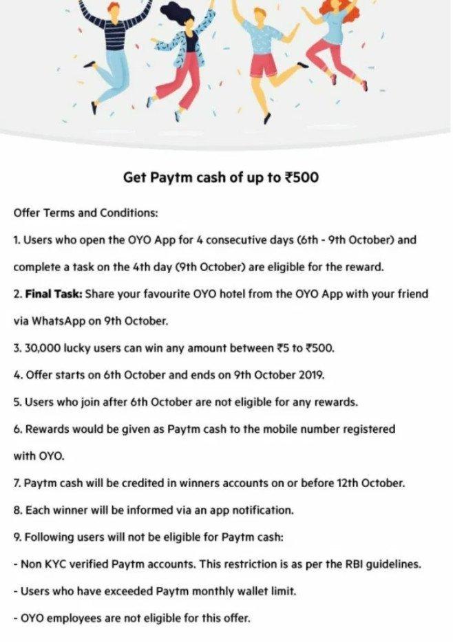 oyo loot paytm cash free