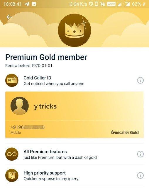 truecaller premium gold mod apk