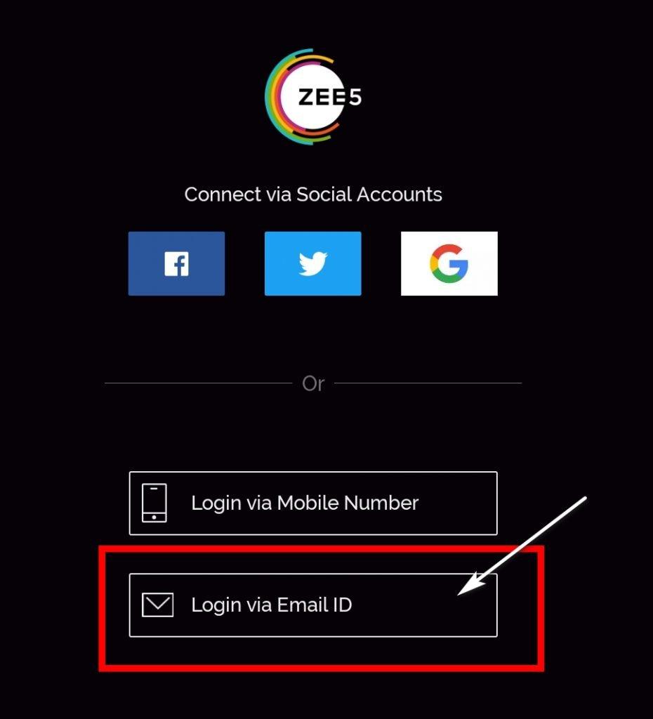 zee5 premium account login